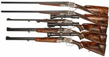 Set of five luxury arms, Josef Just - Ferlach