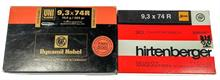 rifle cartridges 9,3x74R Hirtenberger and RWS, § unrestricted