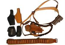 holsters and leather bundle lot - 8 items