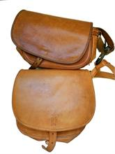 cartridge bags of leather, 2 items