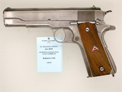 Colt M1911A1, Remington Rand, .45 ACP, #1298000, § B